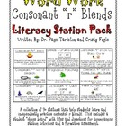 Blends with Consonant R Literacy Station Word Work