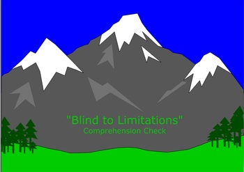 """Blind to Limitations"" Comprehension Check - Houghton-Miff"