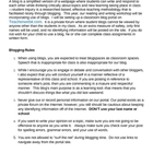 Blogging Rules and Permission Slip