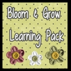 Bloom and Grow Learning Pack