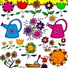 Blooming Garden Clip Art by Dandy Doodles