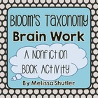 Bloom&#039;s Taxonomy Brain Work