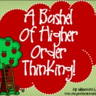 Bloom's Taxonomy Class Posters (A Bushel of Higher Order T