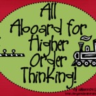 Bloom&#039;s Taxonomy Class Posters (All Aboard for Higher Orde