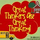 Bloom&#039;s Taxonomy Class Posters (&quot;Great Thinkers Use Great 