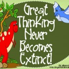 "Bloom's Taxonomy Class Posters (""Great Thinking Never Beco"