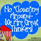Bloom&#039;s Taxonomy Class Posters (No Clowning Around--