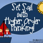 Bloom&#039;s Taxonomy Class Posters (&quot;Set Sail with Higher Orde