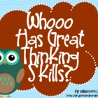 Bloom&#039;s Taxonomy Class Posters (&quot;Whooo Has Great Thinking 