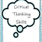 Bloom&#039;s Taxonomy-Critical Thinking Skills posters