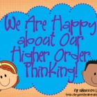 Bloom's Taxonomy Posters-Bright Colors (Happy about Our Hi
