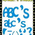 Blue Clipart - Alphabet and Punctuation Symbols