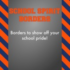 Blue and Orange - School Spirit Borders 4 Pack