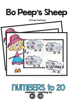 Bo Peep's Sheep - Print & Laminate Game Teaching Addition