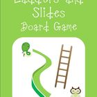Board Game Ladders and Slides {Editable Question Cards}