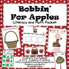 Bobbin' for Apples Math & Literacy Work Stations