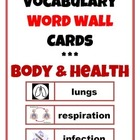 Body & Health Vocabulary Cards and Pictures
