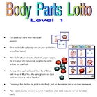 Body Part Bingo 1
