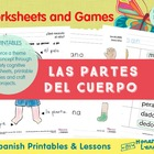 Spanish Body Parts Lesson Complete Set - Partes del cuerpo