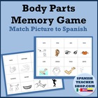 Body Parts Spanish Memory Game