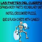 Body Parts Vocabulary, Activities, Crossword, Games, &amp; Quiz Unit