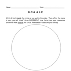 """Boggle"" For Classroom Movies and Videos Worksheet / Activity"
