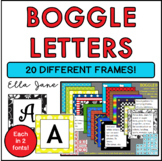 Boggle Letters with 20 different frames