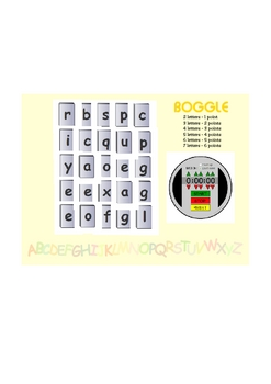Boggle - letter scramble game for smartboard