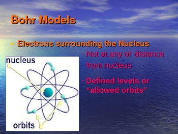 Bohr Model Presentation (energy levels shells valence)