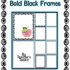 Bold Black Frames and Borders Clipart Commercial use OK