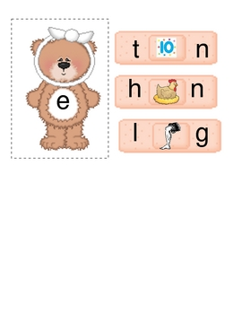 Boo Boo Bears CVC Word Activities