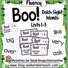 Boo! Dolch Sight Word Lists 1-3