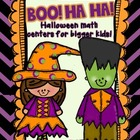 Boo Ha Ha {Halloween Math Centers for Bigger Kids}