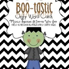 Boo-Tastic Sight Word Cards {October}