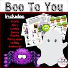 Boo to You October Activity Packet
