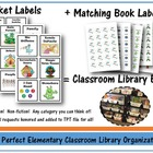 Book Basket and Book Labels - Printable