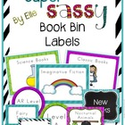 Book Bin Labels By Genre - Super Sassy Theme {Bold and Zeb