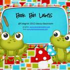 Book Bin Labels ~ Frog Theme
