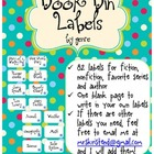 Book Bin Labels - Turquoise Dots