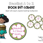 Book Bin Labels for Reading A to Z or Fountas and Pinnell