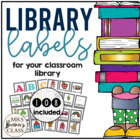 Book Bin Labels {for your classroom library}