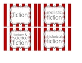 Book Bin/Basket Genre Labels - Leveled Labels - Classroom