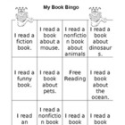 Book Bingo Card-Indpendent Reading