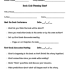 Book Club Planning Sheet