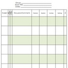 Book Club or Reciprocal Teaching Record Keeping Form
