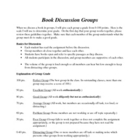 Book Discussions for Groups