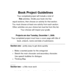 Book Project with choices
