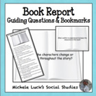 Book Reading Report Question Bookmarks - Student Reading Tool