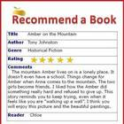 Book Recommendation Program for Reading / ELA Classes