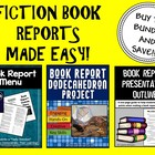 Book Report Bundle (Menu & Dodecahedron Project Kits)